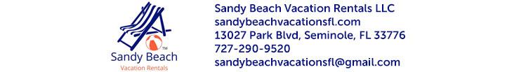 Sandy Beach Vacation Rentals LLC email header