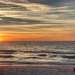 st pete beach at sunset